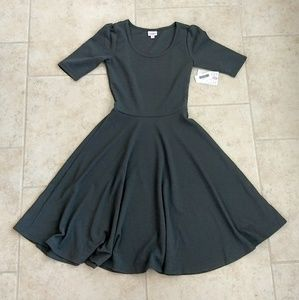 LuLaRoe Nicole Dress Solid Grey